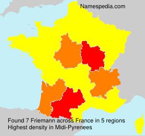 Surname Friemann in France