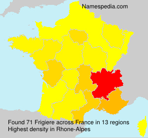 Surname Frigiere in France