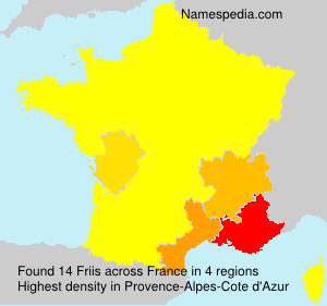 Surname Friis in France