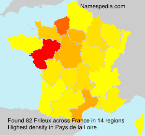 Surname Frileux in France