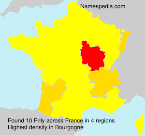 Surname Frily in France