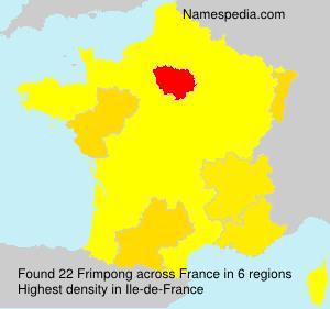 Surname Frimpong in France