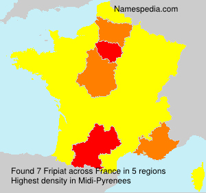 Surname Fripiat in France