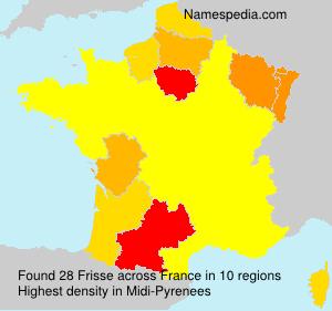 Surname Frisse in France