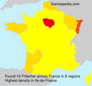 Surname Fritscher in France
