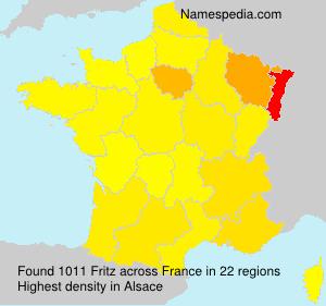Familiennamen Fritz - France