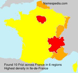 Surname Frizi in France