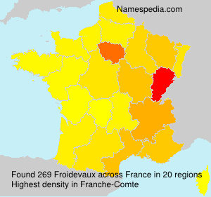 Surname Froidevaux in France
