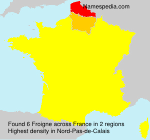 Surname Froigne in France