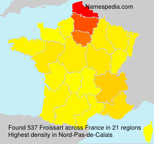 Surname Froissart in France