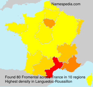 Surname Fromental in France