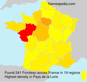 Surname Fronteau in France