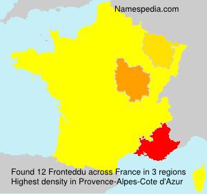 Surname Fronteddu in France