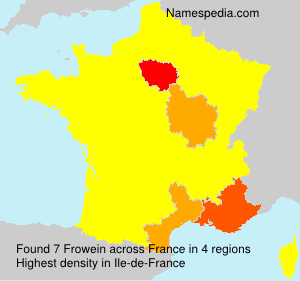 Surname Frowein in France