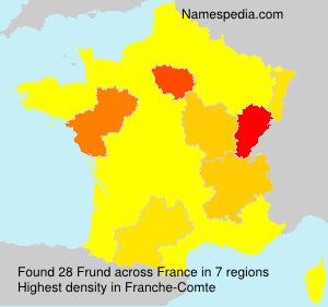 Surname Frund in France