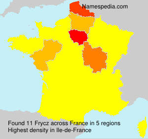 Surname Frycz in France