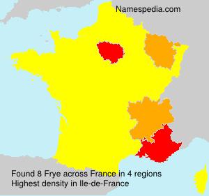 Surname Frye in France