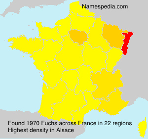 Surname Fuchs in France
