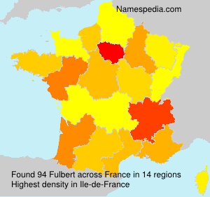 Surname Fulbert in France