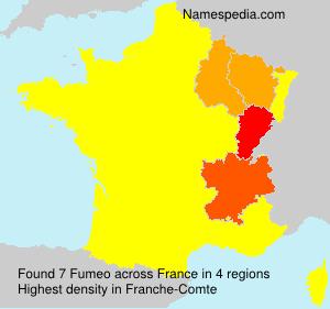 Surname Fumeo in France