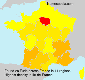 Surname Furia in France