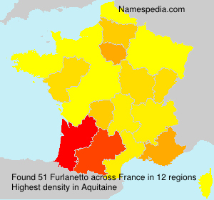 Surname Furlanetto in France