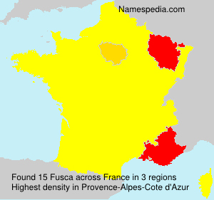 Surname Fusca in France