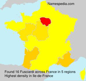 Familiennamen Fusciardi - France