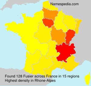 Surname Fusier in France