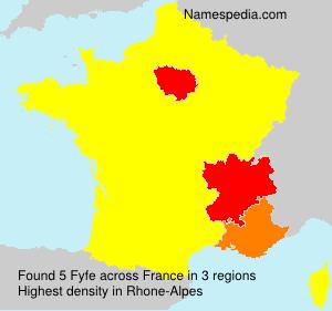 Surname Fyfe in France