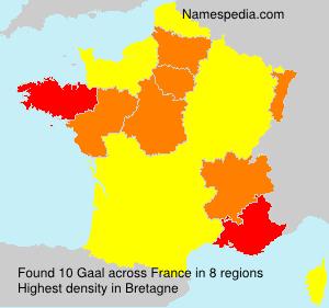Familiennamen Gaal - France