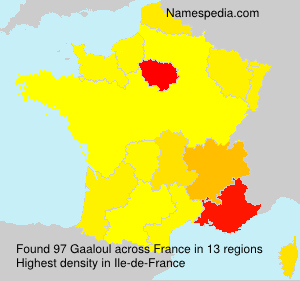 Surname Gaaloul in France