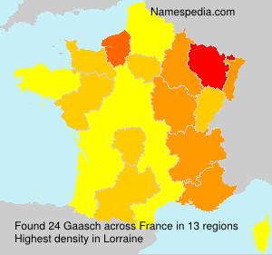 Familiennamen Gaasch - France