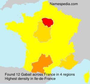 Familiennamen Gabail - France