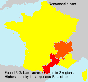 Surname Gabarel in France