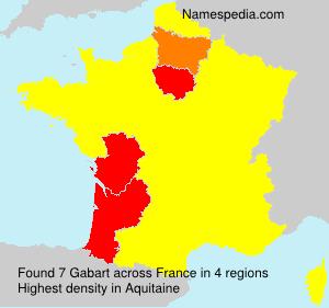 Surname Gabart in France