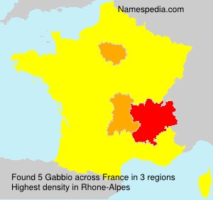 Surname Gabbio in France