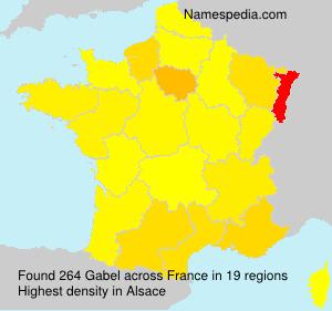 Surname Gabel in France