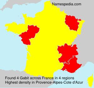 Surname Gabit in France