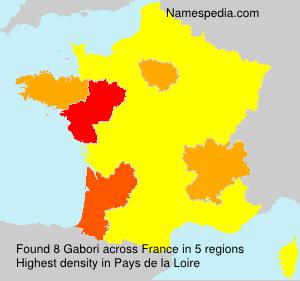 Surname Gabori in France