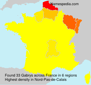 Surname Gabrys in France