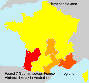 Surname Gachan in France