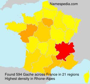 Familiennamen Gache - France