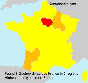 Surname Gachowski in France