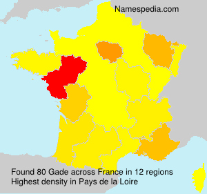Surname Gade in France