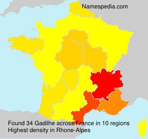 Surname Gadilhe in France