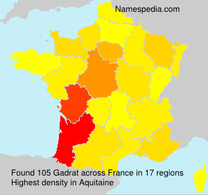 Surname Gadrat in France