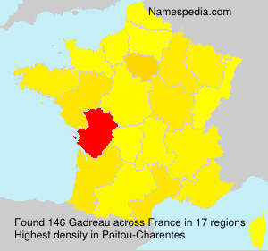 Surname Gadreau in France
