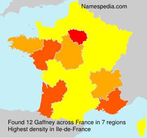 Surname Gaffney in France