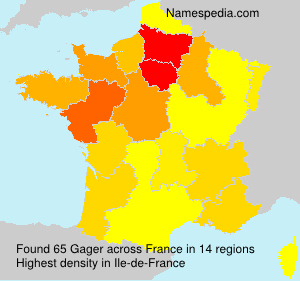 Surname Gager in France